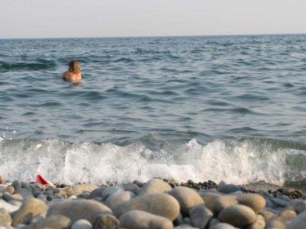 На пляже в Морском