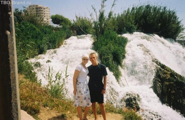 Возле водопада в Анталии