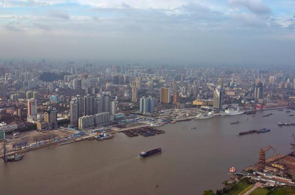 небо,смог,Шанхай...