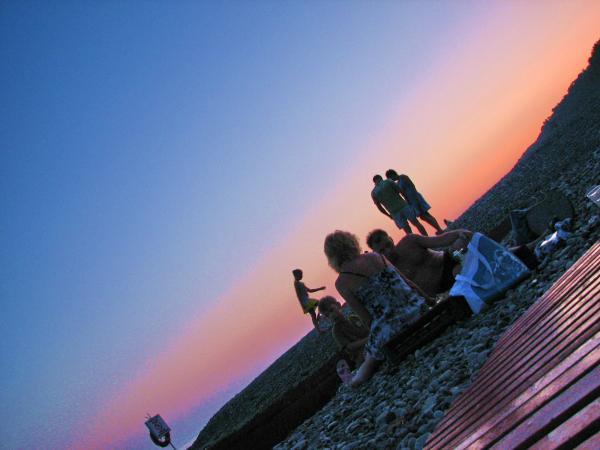 пляж вечерний