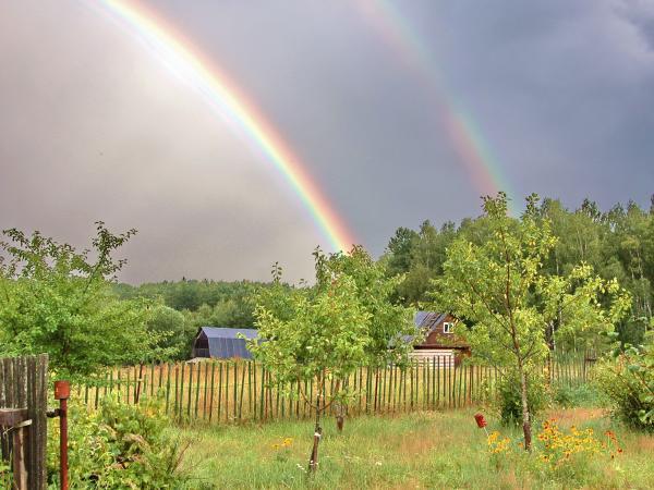 двойная радуга!