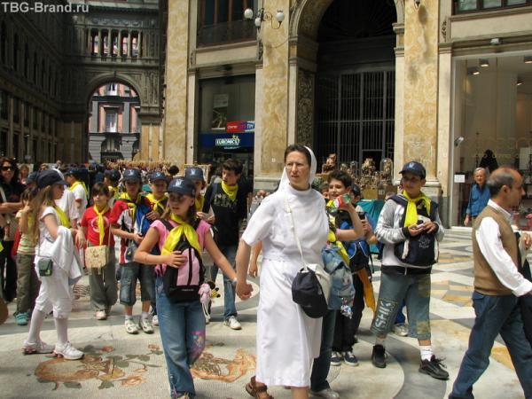 Дети на экскурсии в Галерее Умберто