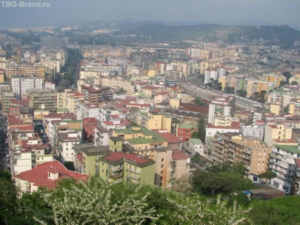 Вид на Неаполь с болкона отеля Splendid
