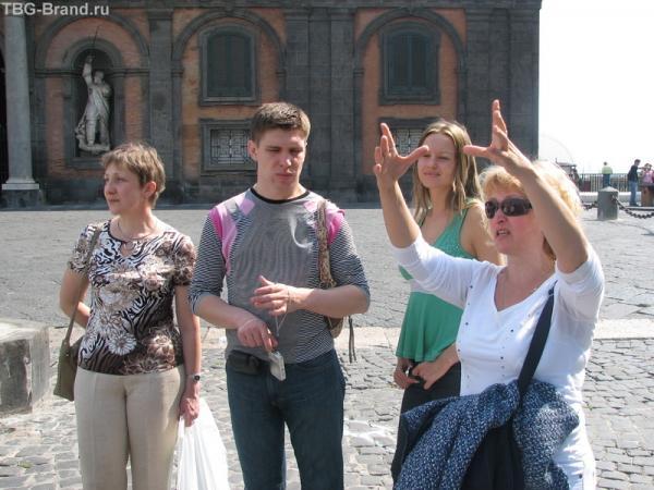 Наш экскурсовод по Неаполю. Хоть и русская, а уже экспрессивная как настоящая итальянка