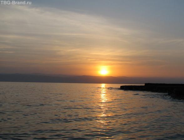 закат на Мёртвом море