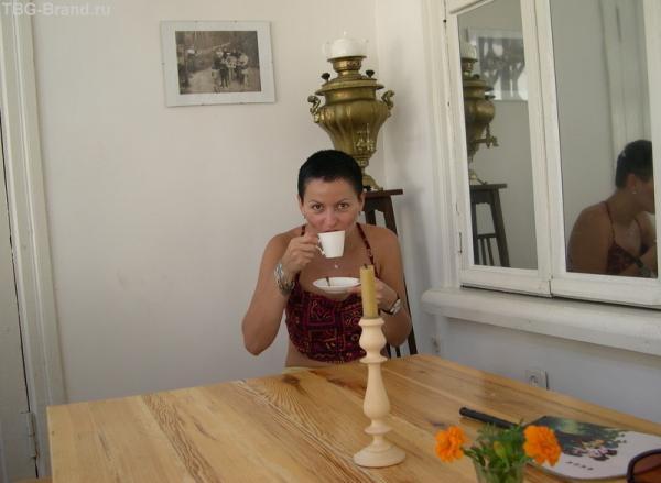 чаепитие на веранде в домике Булгакова