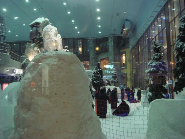 Лыжный курорт внутри торгового комплекса