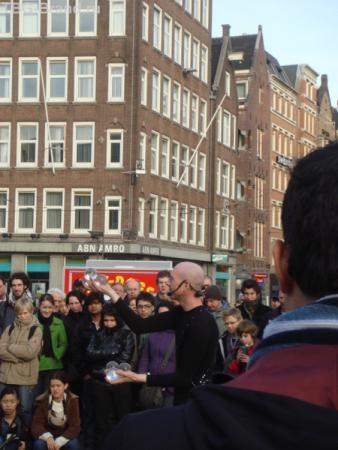 уличное представление на площади