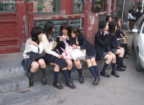 Японки в Пекине