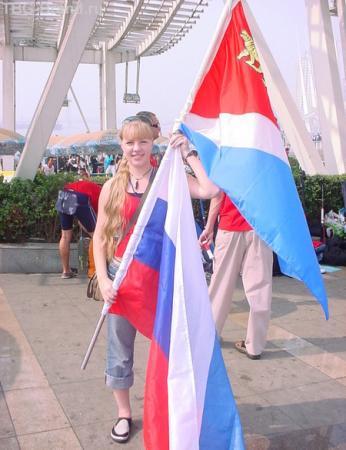 с флагом России я чувствовала себя почти олимпийской чемпионкой!