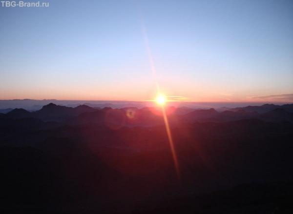 рассвет на горе Синай