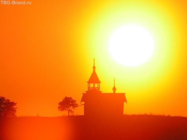 закат над Кижами