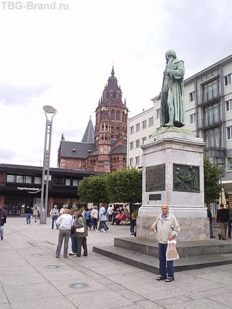 Рейн. Майнц. Памятник И. Гуттенбергу- изобретателю книгопечатания