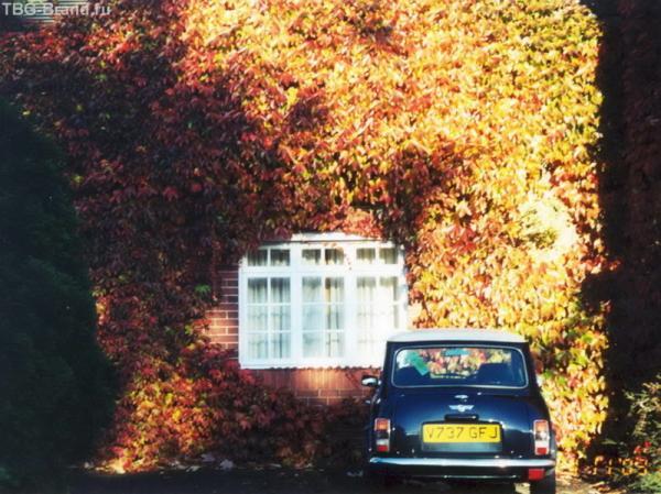 Небольшой домик, небольшой дворик, небольшой автомобиль – место в Великобритании используют умело