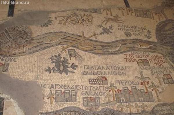 карта в Мадабе