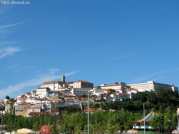 Вид на город с левого берега Мондего