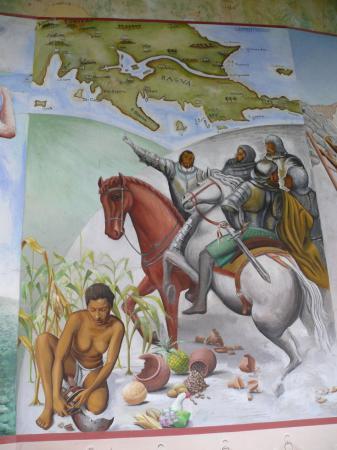 Франсиско де Кордова открывает Никарагуа. Фреска в монастыре Св. Франциска.