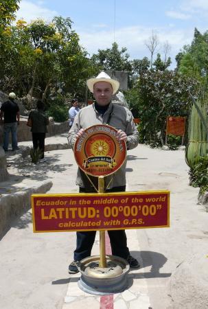 Н.В.Баландинский на подлинном экваторе
