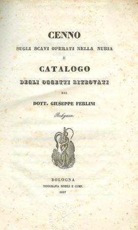Джузеппе Ферлини. Опись награбленного