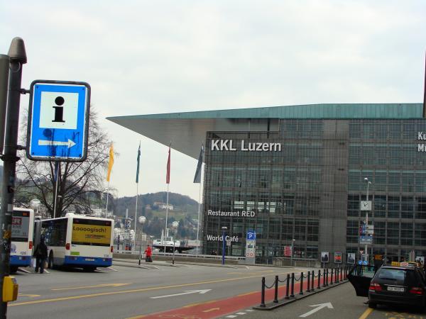 KKL - Центр культуры и конгрессов Люцерна на Площади Европы,проект французского архитектора Нувеля
