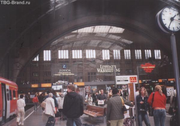 крупнейший в Европе вокзал в Лейпциге