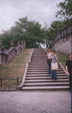 лестница с маленькими ступенями для юной жены короля