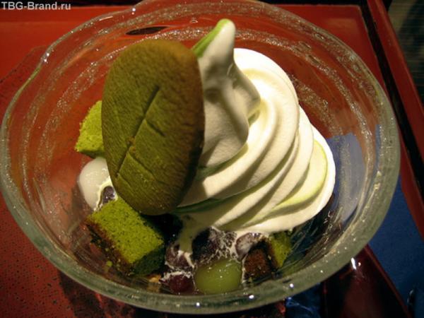 """десерт """"Эстраваганза"""" тапиока и сухарики"""