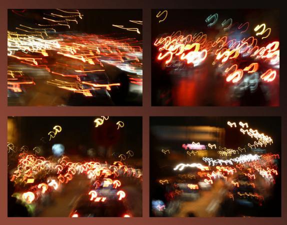 Ночные пробки в Афинах