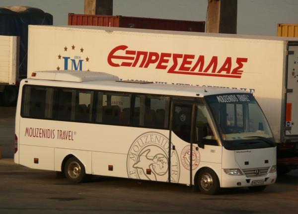 Наш автобус в порту Пирей.
