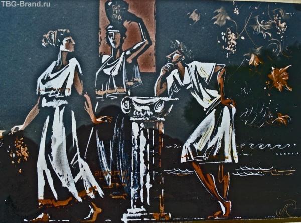 Картины по мотивам Древней Греции пользуются успехом у туристов
