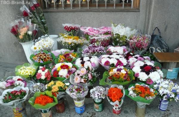 А вот и цветы на улицах Львова.