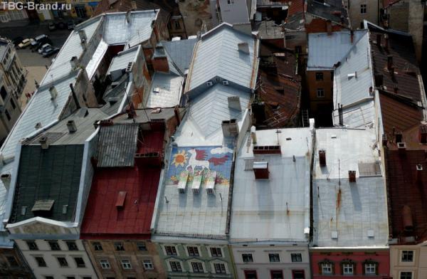 Высокохудожественные городские крыши.