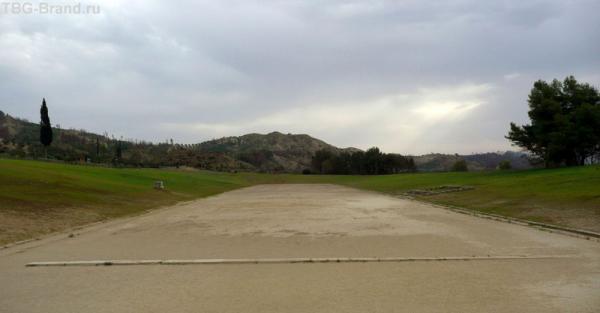 Так выглядит олимпийский стадион в Древней Олимпии.