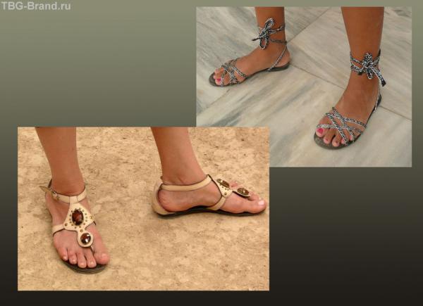 Настоящие сандалии - подошвы с ремешками!