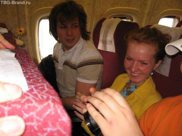 Сели в самолет. В предвкушении.