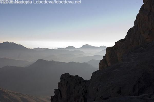 утро на горе Моисея
