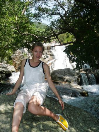 на водопадах на островах