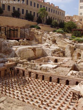 Римские бани в Бейруте. Раскопки были совсем недавно.