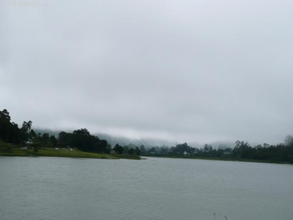 Туманы здесь каждый день. Но нам повезло. Туман не сильный, можем ехать дальше!