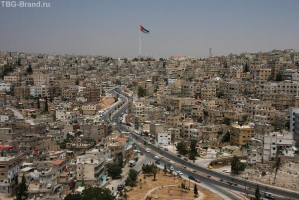 Флаг Аммана виден с любой точки. Какой колорит!!!
