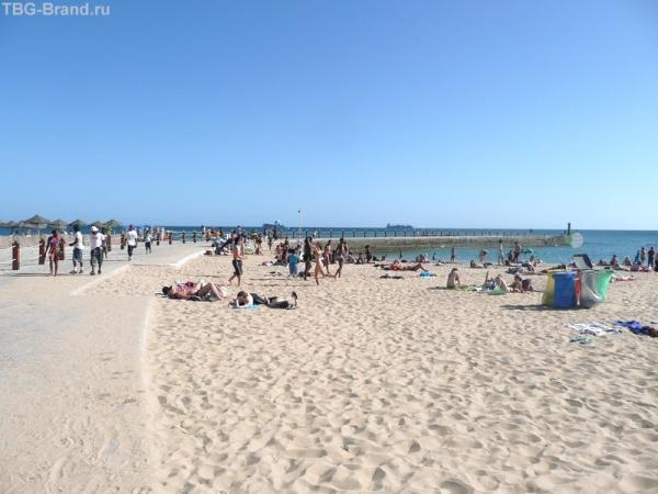 Пляжи Кашкайша утром