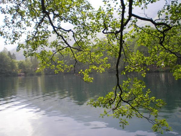 Голубое озеро - всего через 2 минуты