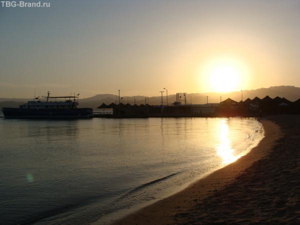 Залив Акабы. Закат.