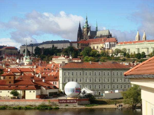 Вид на Пражский Град из отеля Four Seasons Prague 5*