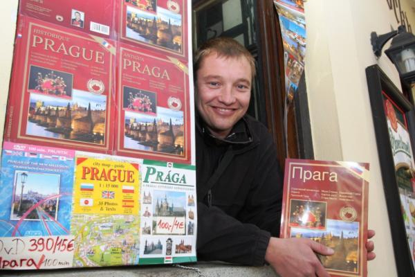 Автор путеводителя по Праге на русском языке в районе Страховского монастыря