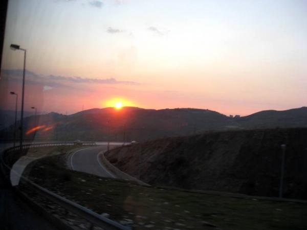 Ливан. Закат в горах