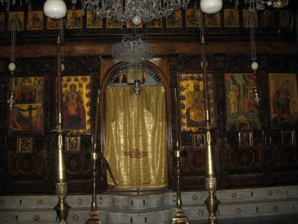 Сирия. Алтарь в одном из православных храмов