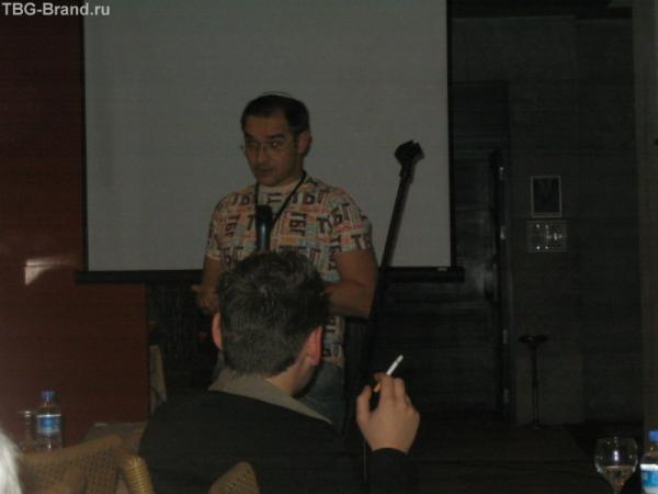 На конференции. Доклад А. Носика