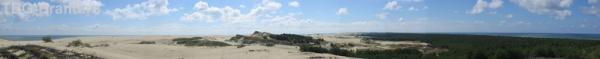 Панорама косы. Слева залив, справа - море