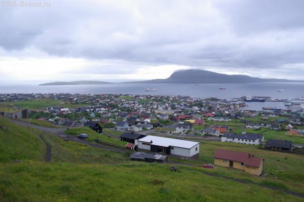 Вид на столицу Фарерских островов